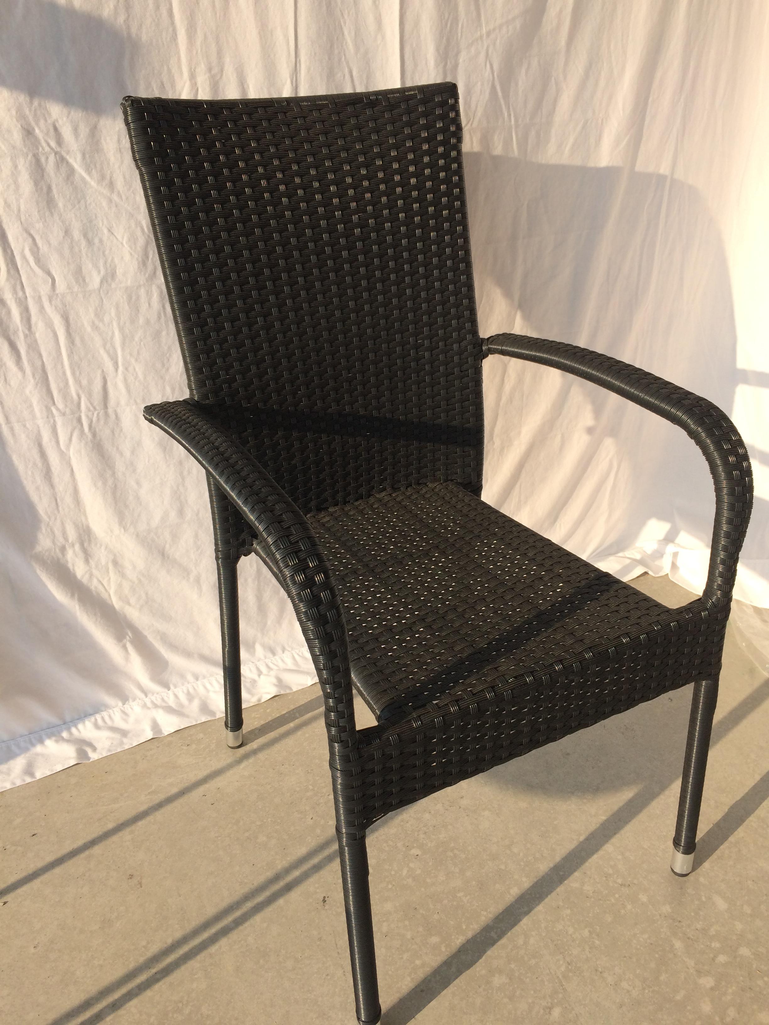 Black Wicker Outdoor Patio Chair