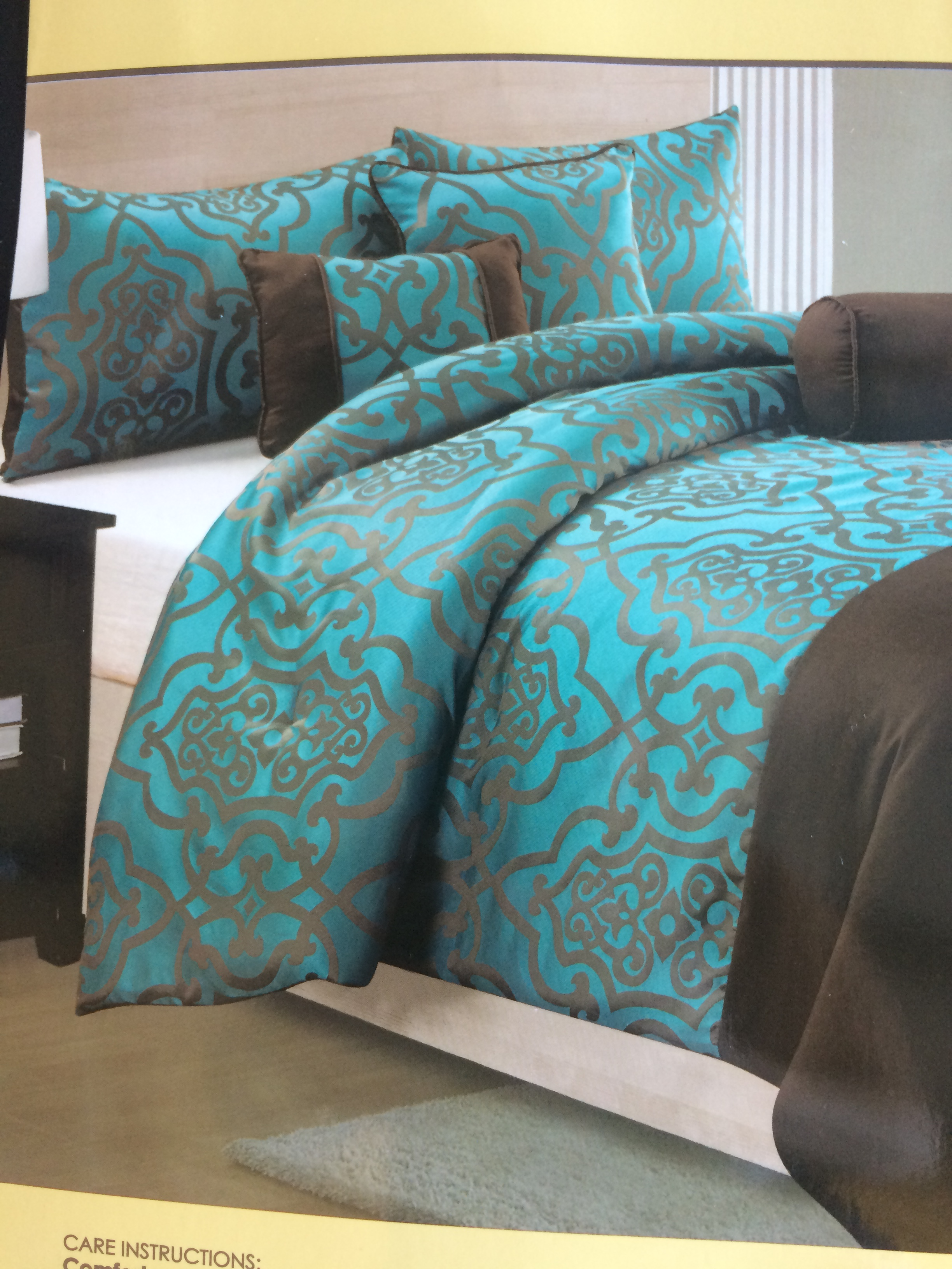better and roses com teal sets comforter walmart gardens ip set blooming homes piece