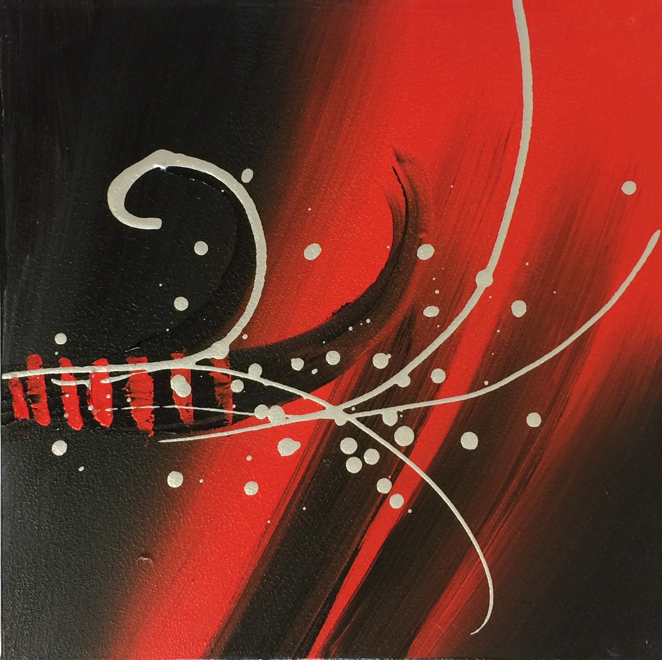 Abstract Design With Redblacksilver